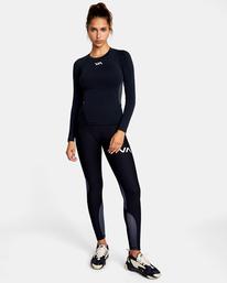 3 Compression - Haut de sport manches longues pour Femme Noir W4TPWHRVP1 RVCA