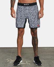 "0 Bedwin Nogi 17"" - Performance Shorts for Men Black W4WKMJRVP1 RVCA"