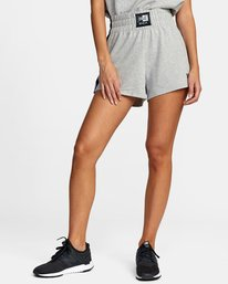 0 Everlast x RVCA - Sweat Shorts for Women Grey W4WKWBRVP1 RVCA