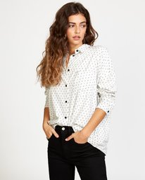 0 Hera Oversized Button-Up Shirt White W504VRHE RVCA