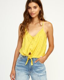 0 Your Escape Printed Tank Top Yellow W505TRYE RVCA