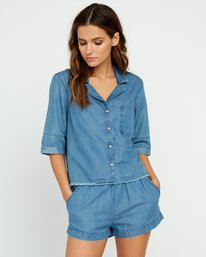 0 Inner Thoughts Chambray Shirt  W505URIN RVCA