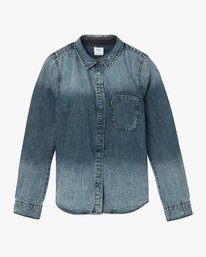 5 Unearthed Washed Denim Shirt Blue W508QRUN RVCA