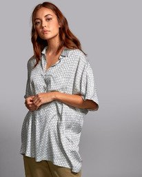 0 DECAY OVERSIZED BUTTON-UP SHIRT White W5141RDE RVCA