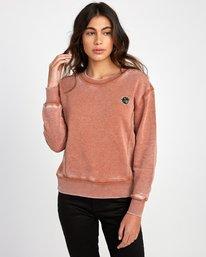 0 Grisancich Prowl Pullover Sweatshirt Grey W601VRPR RVCA