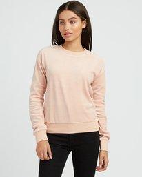 0 Babs Velour Fleece Sweater Beige W606SRBA RVCA
