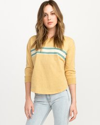 0 Day Stripe Pullover Crew Sweatshirt Multicolor W617QRDA RVCA