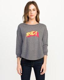 0 Trippy Pullover Crew Sweatshirt Black W617QRTR RVCA