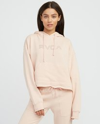 0 Pinner Cropped Hoodie Pink W621SRPI RVCA