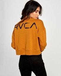 0 Big Copy Pullover Sweatshirt Orange W627VRBI RVCA
