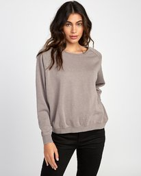 0 Everyday Label Sweatshirt Grey W634VREV RVCA