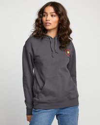 0 NOTHING PULLOVER HOODIE Green W6393RNO RVCA