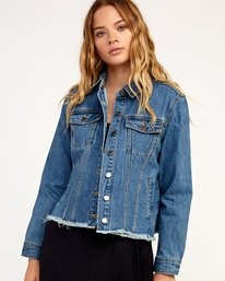0 Pause It Striped Denim Jacket  W702TRPA RVCA