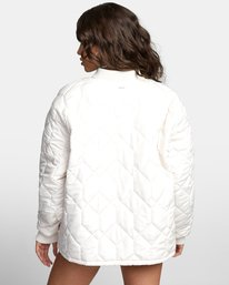 2 DOWNTOWN QUILTED BOMBER JACKET Brown W7053RDO RVCA