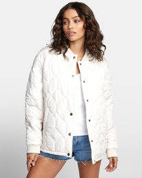 0 DOWNTOWN QUILTED BOMBER JACKET Brown W7053RDO RVCA