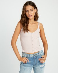 0 Go For Broke Ribbed Tank Top Pink W901URGO RVCA