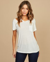 0 Ellis Distressed T-Shirt White W902QREL RVCA