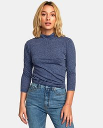 0 Jaye Knit Top Blue W902WRJA RVCA