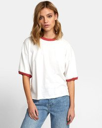 0 NO REGARD T-SHIRT White W9031RNO RVCA