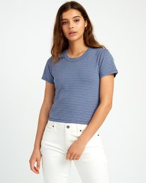 0 Fade Out Striped Baby Tee Blue W903URFA RVCA