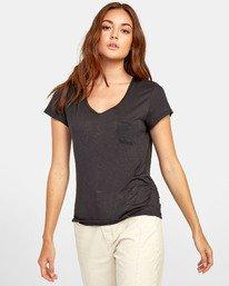 0 Vinyl Jersey Knit T-Shirt Black W904VRVI RVCA