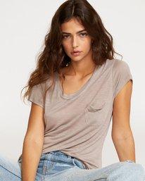 0 Vinyl Jersey Knit T-Shirt Grey W904VRVI RVCA
