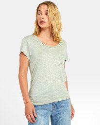 0 VINYL POCKET T-SHIRT Green W904VRVI RVCA