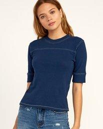 0 Stitched Knit T-Shirt Blue W905TRST RVCA