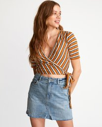 0 Lyra Wrap Crop Top Orange W905VRLY RVCA