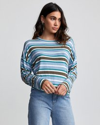 0 COUNTDOWN LONG SLEEVE TOP Multicolor W9073RCO RVCA