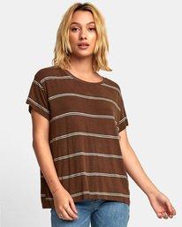 0 Recess 2 Knit T-Shirt Brown W907VRR2 RVCA