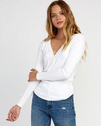 0 Zinnia Knit Long Sleeve Top White W951TRZI RVCA