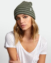 0 Border Striped Knit Beanie  WABNWRBO RVCA