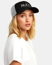 0 TITLE TRUCKER HAT Black WAHWWRTI RVCA