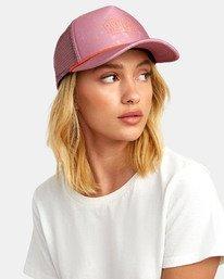 0 UNPHASED TRUCKER HAT Pink WAHWWRUN RVCA