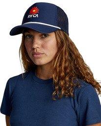 0 UNPHASED TRUCKER HAT Blue WAHWWRUN RVCA