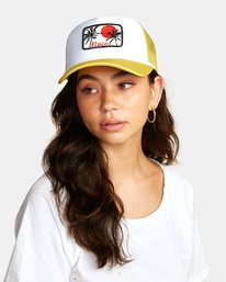 0 UNPHASED TRUCKER HAT Orange WAHWWRUN RVCA