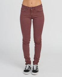 0 Dayley Mid Rise Denim Jeans Pink WCDP02DA RVCA