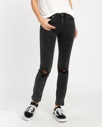 0 Dayley Mid Rise Denim Jeans Black WCDP02DA RVCA