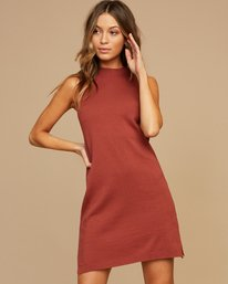 0 Chev Sweater Dress Brown WD01QRCH RVCA