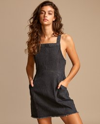 0 Ace Denim Dress Black WD01VRAC RVCA