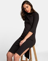 0 Cobra Ribbed Dress Black WD01WRCO RVCA