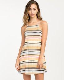 0 Hyacinth Striped Dress Beige WD02PRHY RVCA