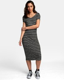 0 Interest Knit Midi Dress Black WD03WRIT RVCA