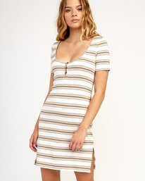 0 Vamp Striped Knit Dress Beige WD04TRVA RVCA