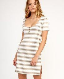 0 Vamp Striped Knit Dress Beige WD04TRVA RVCA