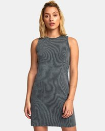 0 Dime A Dozen Ribbed Tank Dress Blue WD05WRDI RVCA
