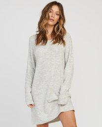 0 De La Sweater Dress Grey WD07SRDE RVCA