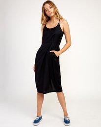 0 Cece Woven Midi Dress Black WD07TRCE RVCA