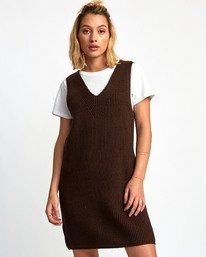 0 Industry Sweater Dress Black WD07WRIN RVCA